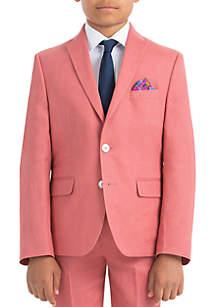 Lauren Ralph Lauren Boys 4-7 Red Plain Linen Coat