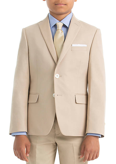 Boys 4-7 Tan Cotton Spandex Coat