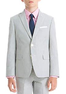 Lauren Ralph Lauren Boys 4-7 Blue Stripe Cotton Coat