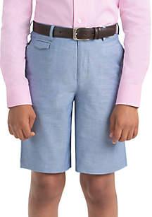 Lauren Ralph Lauren Boys 4-7 Light Blue Chambray Cotton Shorts