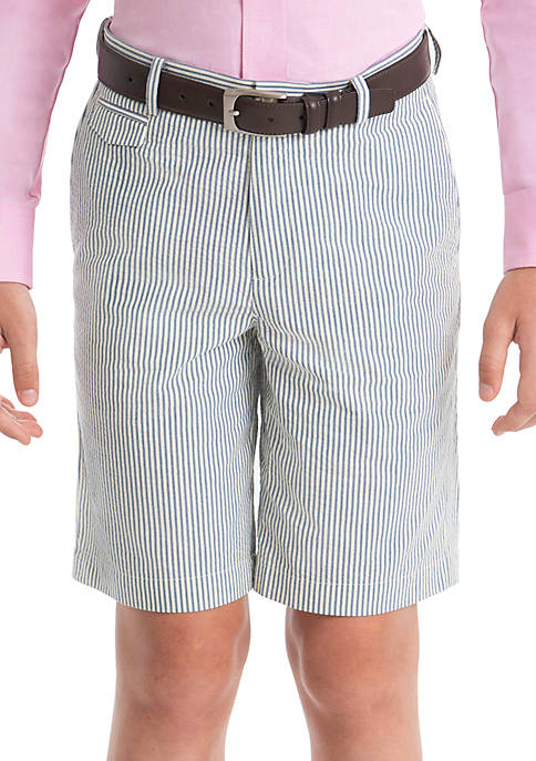 Boys 4-7 Blue Stripe Cotton Shorts