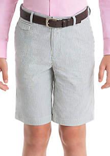 Lauren Ralph Lauren Boys 4-7 Blue Stripe Cotton Shorts