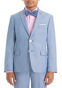 Lauren Ralph Lauren Boys 4-7 Light Blue Chambray Cotton Pants