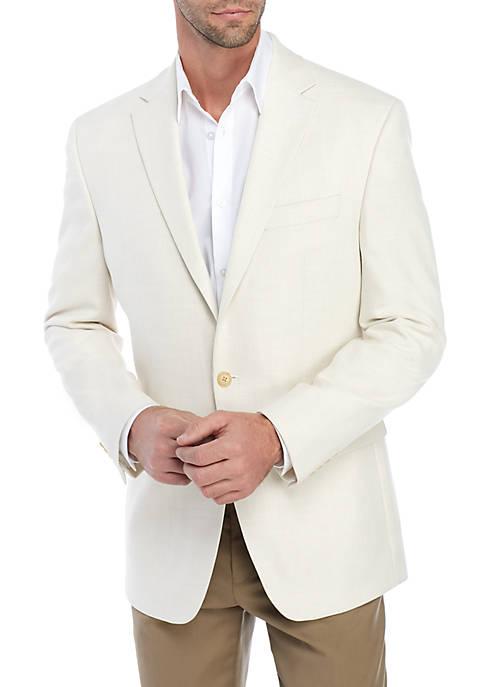 Ivory Solid Stretch Jacket