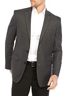 Lauren Ralph Lauren Charcoal Gray Heathered Mini Check Sport Coat
