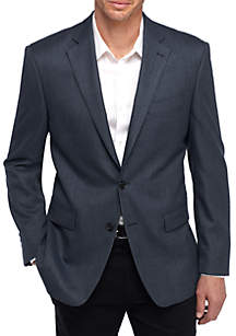 Big & Tall Blue Tic Blazer