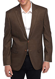 Big & Tall Brown Check Sport Coat