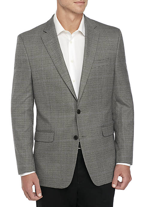 Big & Tall Houndstooth Deco Stretch Sport Coat