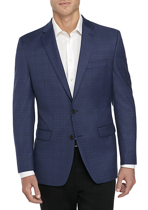 Big & Tall Stretch Plaid Sport Coat