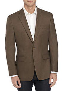 Big & Tall Houndstooth Stretch Sport Coat