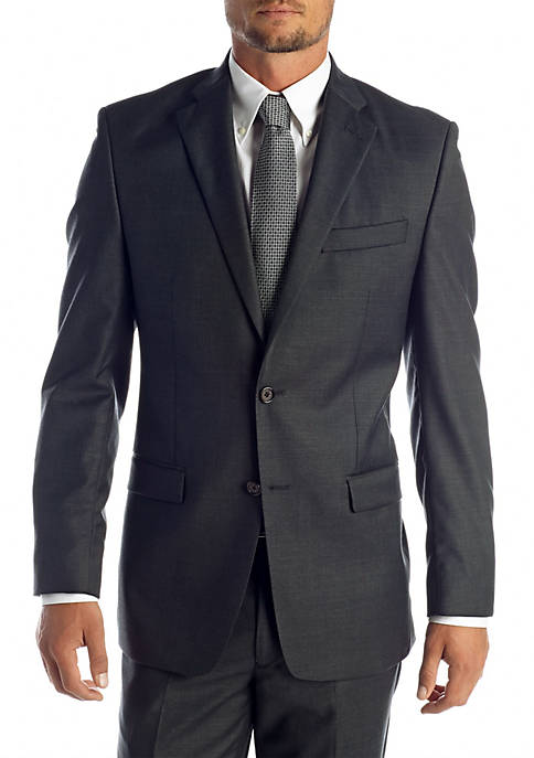 Lauren Ralph Lauren Classic Fit Charcoal Suit Separate