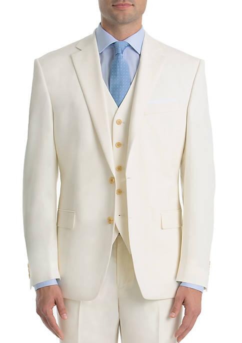 Lauren Ralph Lauren Off White Twill Wool Straight