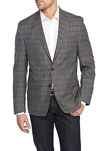 Brown Blue Plaid Sportcoat