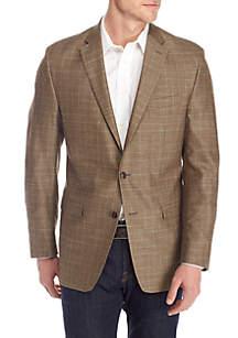 Brown Plaid Blue Deco Sportcoat