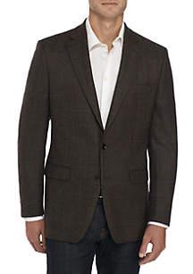 Brown Herringbone Sport Coat