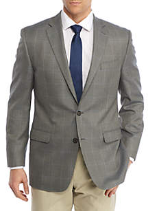Classic-Fit Plaid Sport Coat
