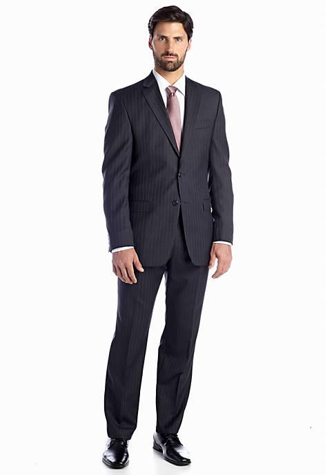 Classic Fit Gray Stripe Suit
