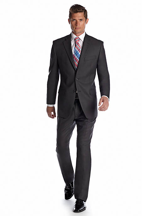 Classic Fit Solid Gray Suit