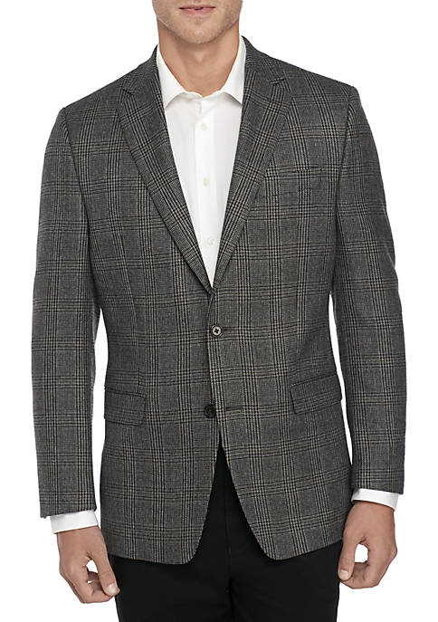 Lauren Ralph Lauren Black Gray Plaid Sport Coat