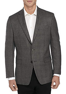Black Gray Plaid Sport Coat