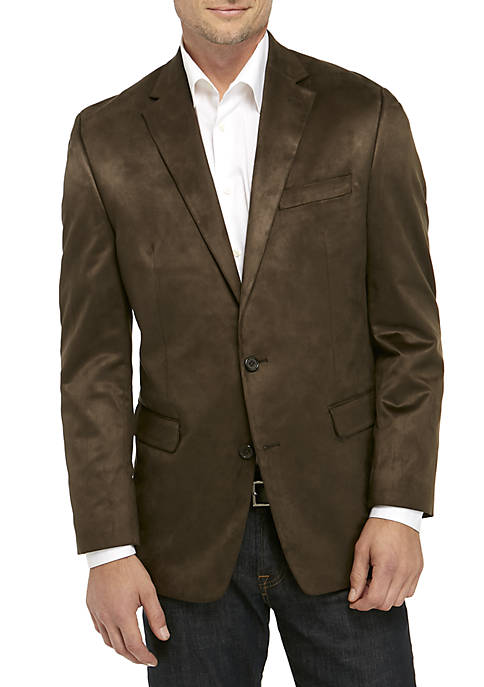 Olive Faux Suede Sport Coat