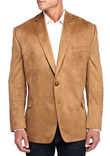 Big & Tall Faux Suede Sport Coat