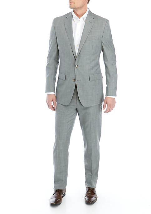 Black And White Screen Weave Suit