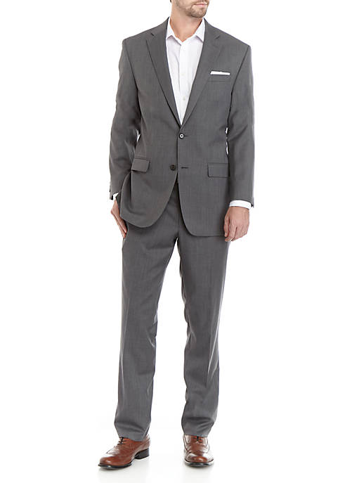 Light Gray Windowpane Suit