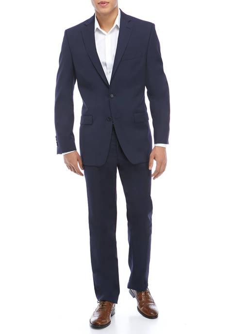 Mens Navy Slim Jim Stripe Suit