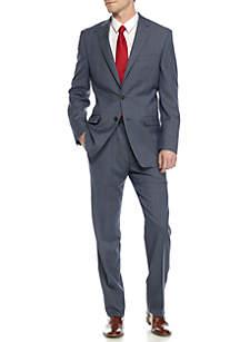 Classic-Fit Ultraflex Plaid Suit