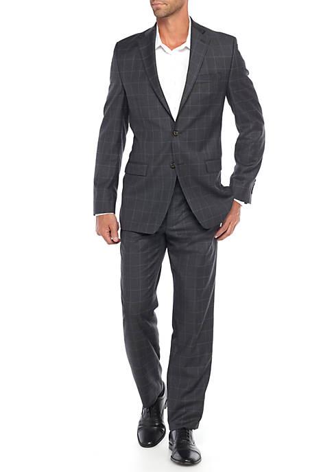 Ultraflex Grey Windowpane Suit