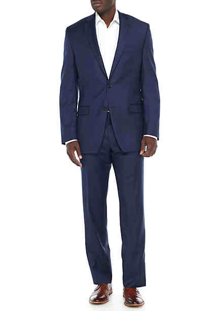 Lauren Ralph Lauren Ultraflex New Blue Solid Basic Suit ...