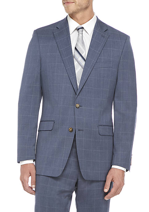 Lauren Ralph Lauren Blue Window Pane Suit Jacket