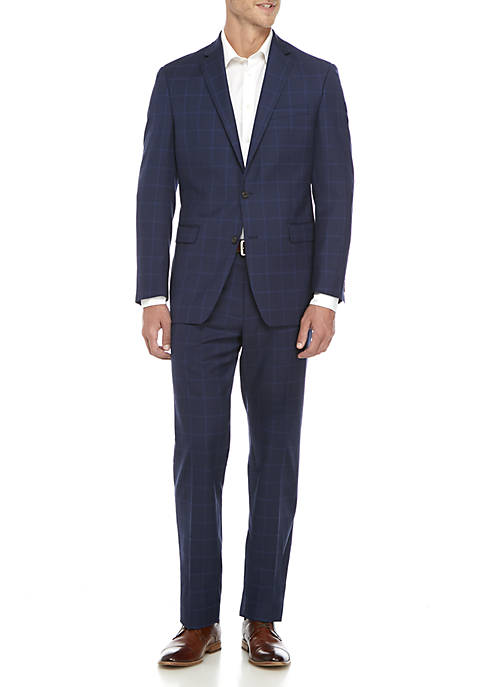 Lauren Ralph Lauren Blue Plaid Suit