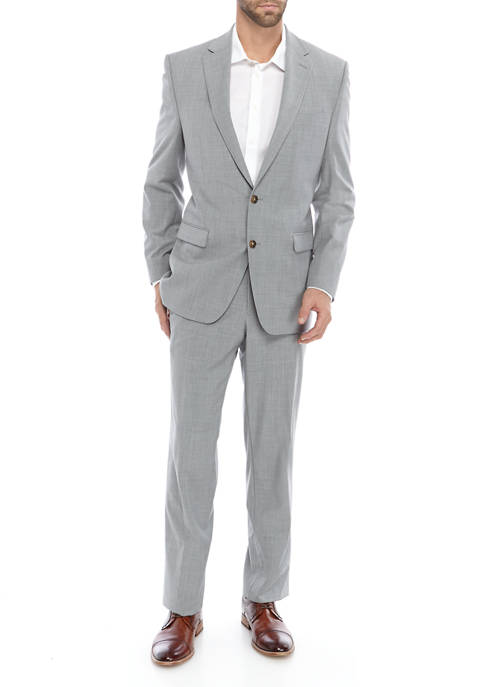 Mens Solid Gray Suit