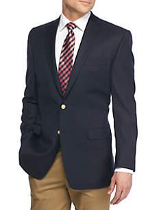 Classic Fit Navy Total Comfort Blazer