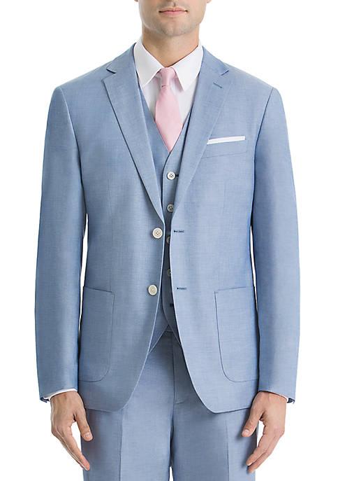 Lauren Ralph Lauren Light Blue Chambray Cotton Suit