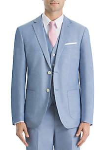 Lauren Ralph Lauren Light Blue Chambray Cotton Coat