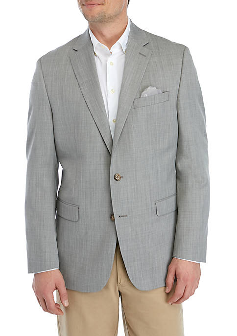 Light Gray Solid Sportcoat