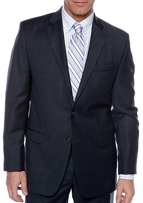Lauren Ralph Lauren Classic Fit Ultraflex Windowpane Suit