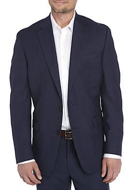 Navy Plaid Suit Separate Coat
