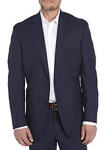 Navy Plaid Suit Coat