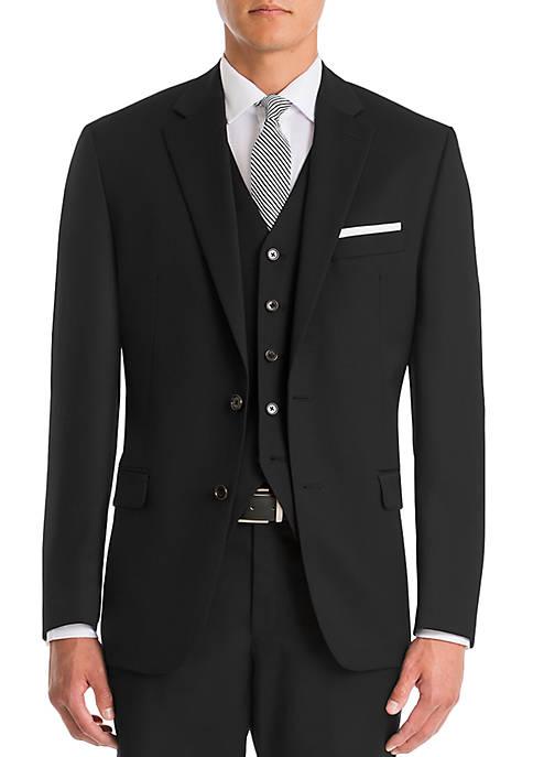 Lauren Ralph Lauren Black Wool Straight Suit Separate