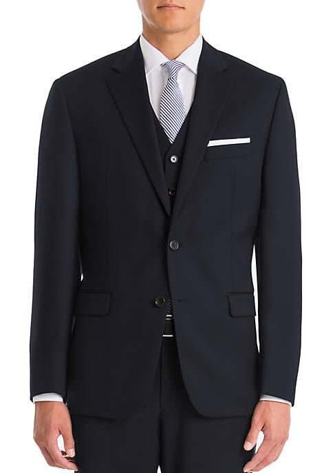 Lauren Ralph Lauren Navy Wool Straight Coat