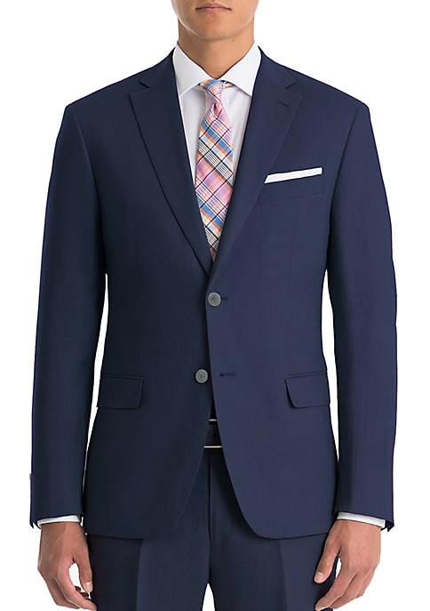 Navy Linen Coat