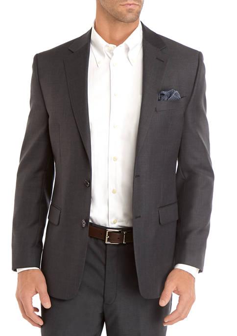 Mens Classic Fit Charcoal Sport Coat