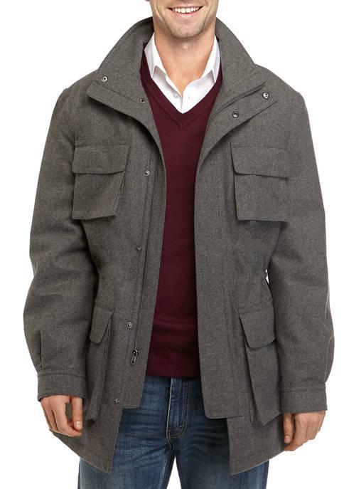 Mens Lavender Gray Coat