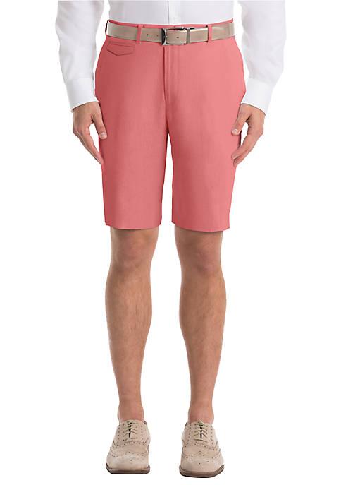 Plain Red Linen Shorts