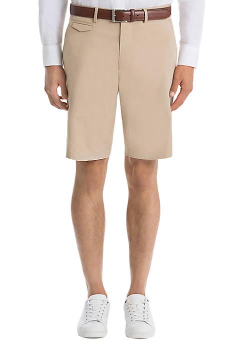 Plain Tan Cotton Shorts