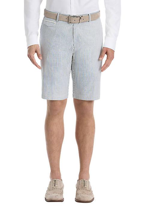 Lauren Ralph Lauren Blue Stripe Cotton Shorts